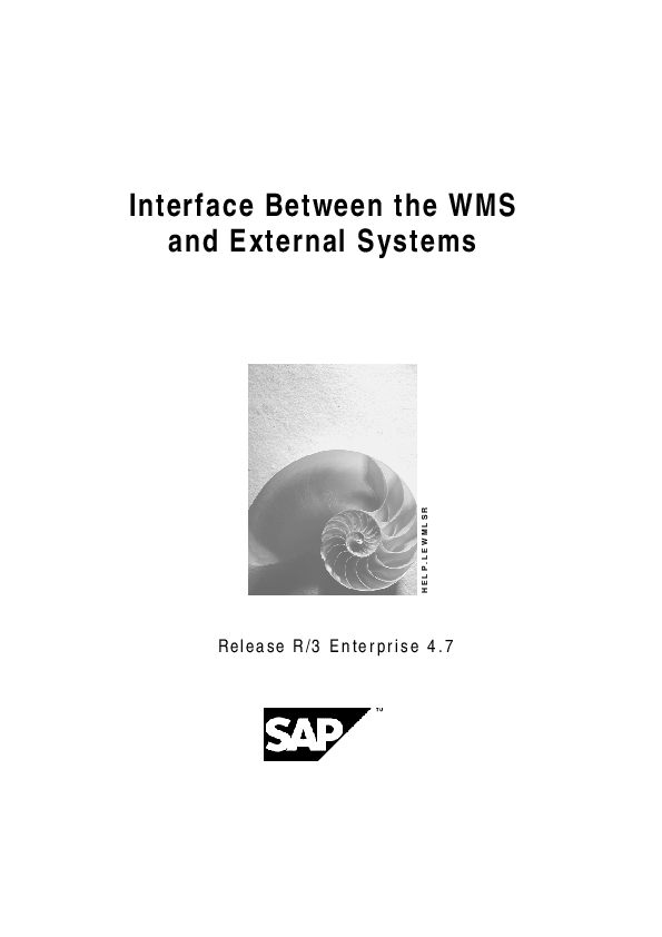 PDF) Interface Between the WMS and External Systems | Lavan Lav
