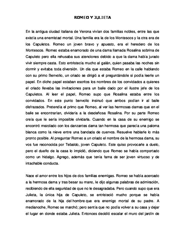 Doc Analisis Literario Romeo Y Julieta Glenda Garcia Academia Edu