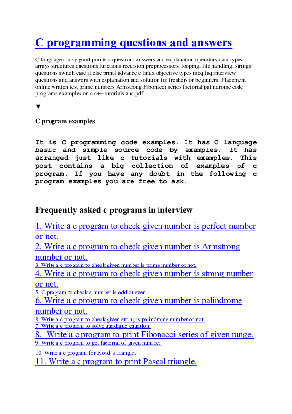 DOC) C programs | sandeep jaineni - Academia edu
