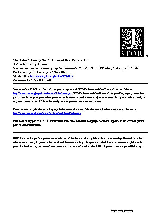 Aztec warfare term papers