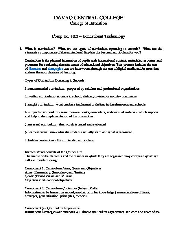 DOC) Educational Tech   Geogen Gialon - Academia edu