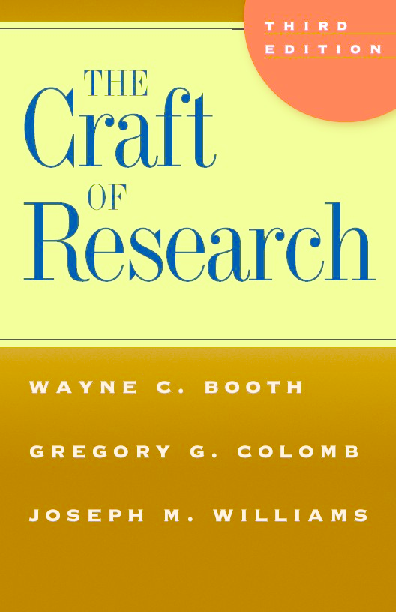PDF) The Craft of Research | Rozina Qureshi - Academia edu