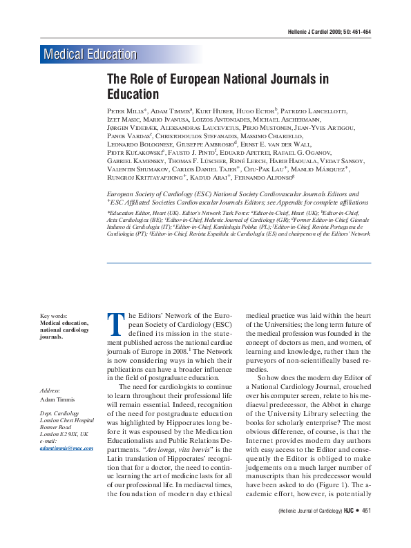 PDF) The role of European national journals in education  | Izet
