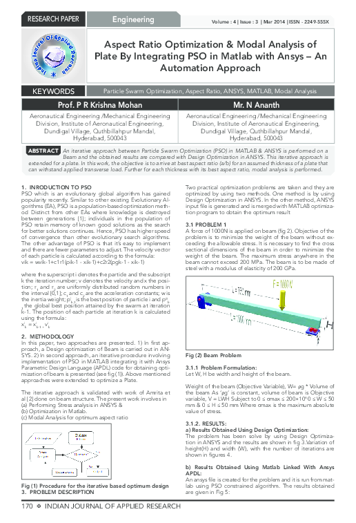 PDF) Aspect Ratio Optimization & Modal Analysis of Plate By