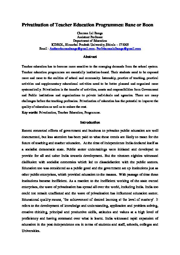 privatization of education in sri lanka