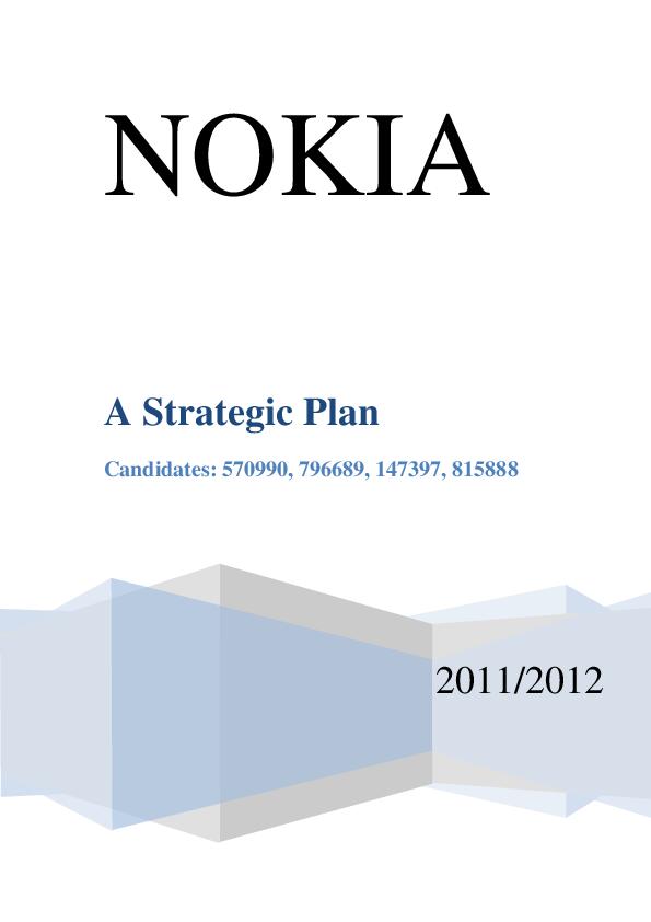 PDF) A Strategic Plan Nokia   Rahul Garg - Academia edu