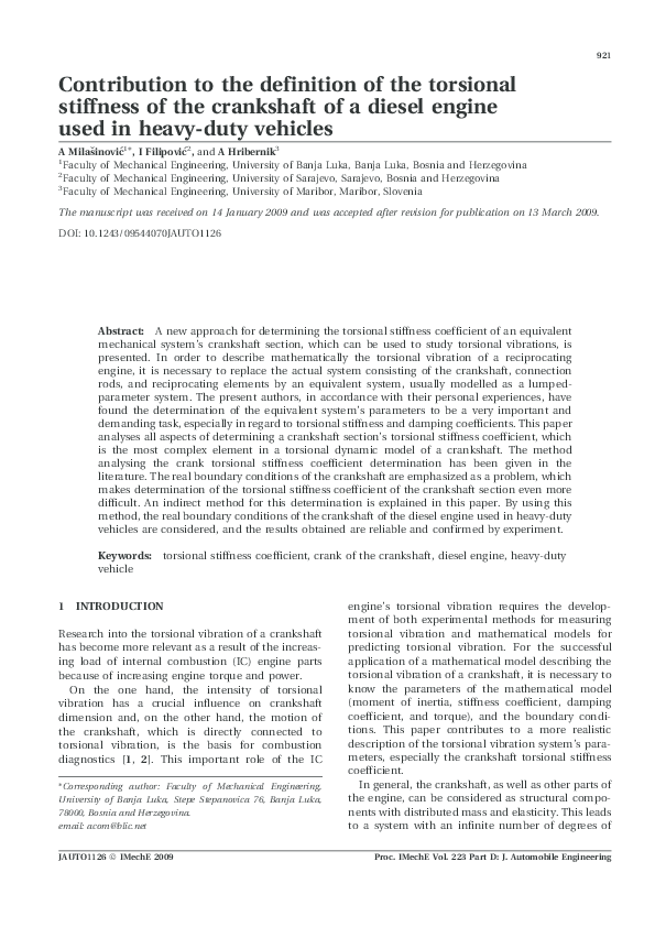 PDF) Contribution to the definition of the torsional