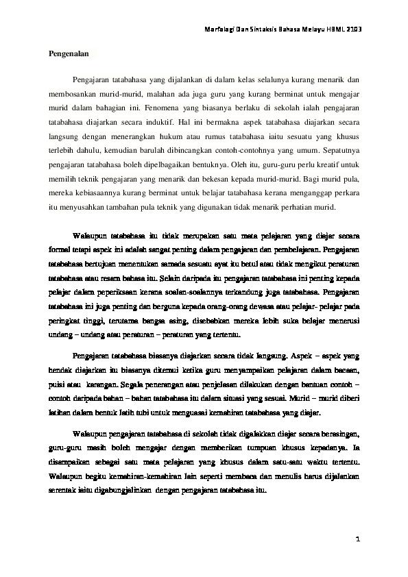 Assigment Bahasa Melayu Jer Joer Academia Edu