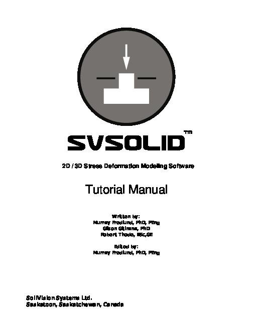 (PDF) 2D / 3D Stress Deformation Modeling Software