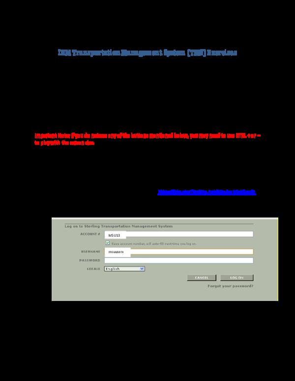 PDF) IBM Transportation Management System (TMS) Exercises