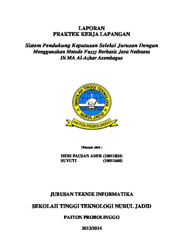 Pdf Laporan Praktek Kerja Lapangan Jurusan Teknik Informatika Heri Fauzan Amir Academia Edu
