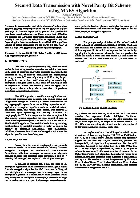 DOC) Secured Data Transmission with Novel Parity Bit Scheme
