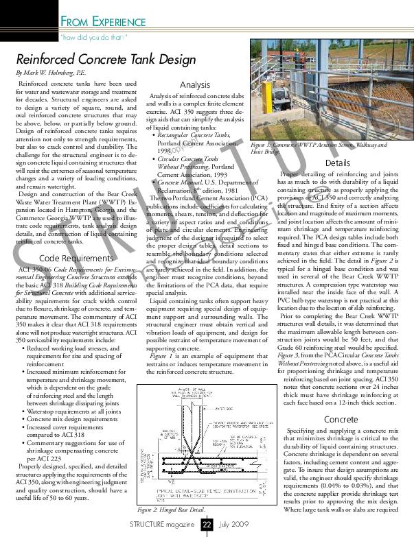 PDF) Reinforced Concrete Tank Design | Asad Kadhum - Academia edu