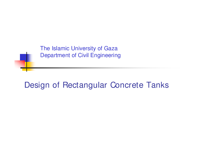 PDF) Design of Rectangular Concrete Tanks | Asad Kadhum - Academia edu
