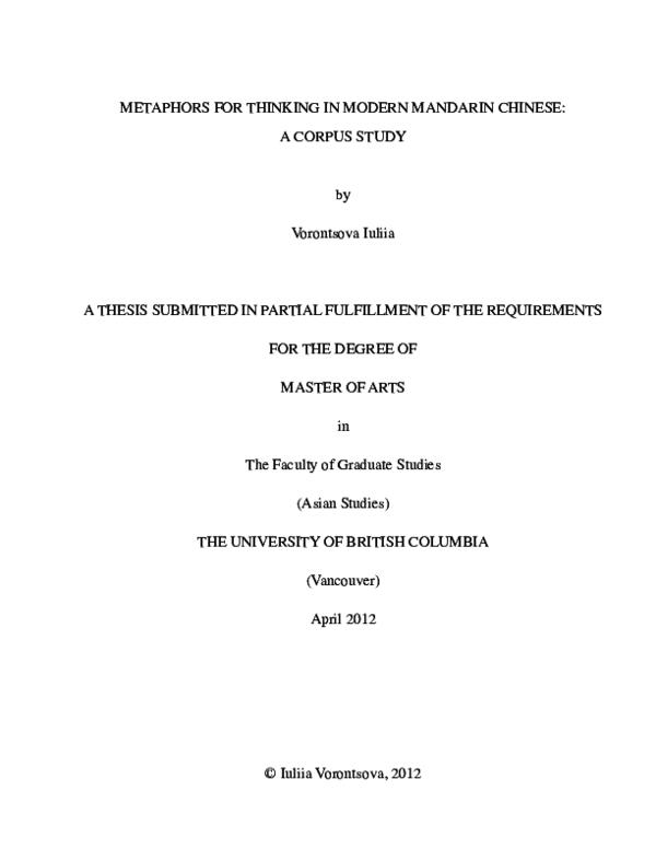 Master thesis china