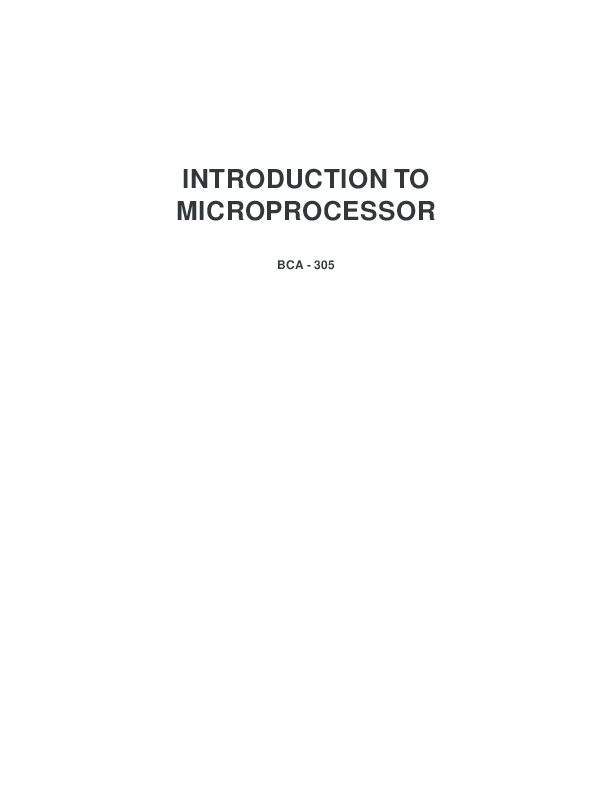 PDF) INTRODUCTION TO MICROPROCESSOR | Rahul Yadav - Academia edu