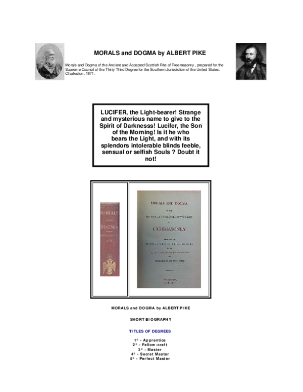 Pdf Morals And Dogma Of The Ancient And Accepted Scottish