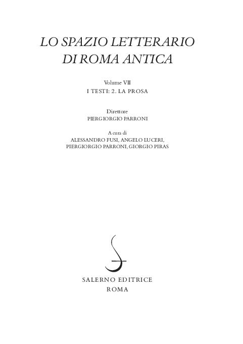PDF) A  Fusi, Un enigma letterario  Il Satyricon di Petronio