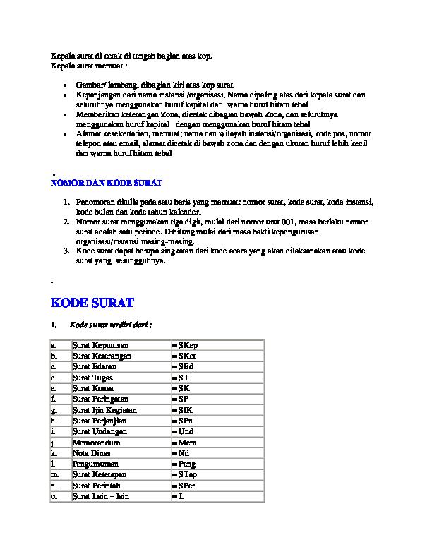 Doc Penomoran Surat Tam Adhe Academiaedu