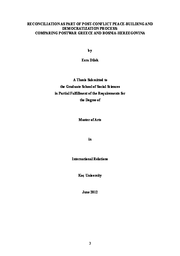 thesis on peace building