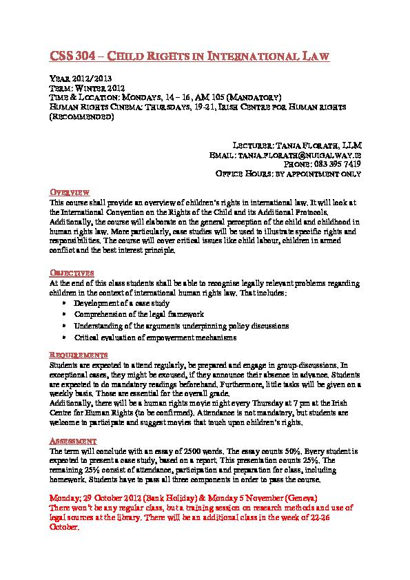 pdf child rights in international law  tanja florath   academiaedu pdf