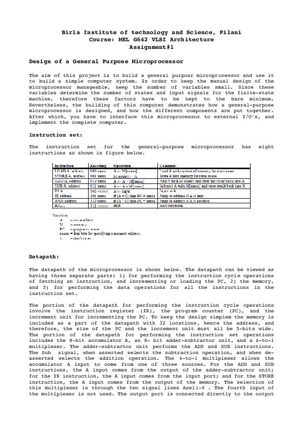BirlaInstituteoftechnologyandScience,Pilani Course