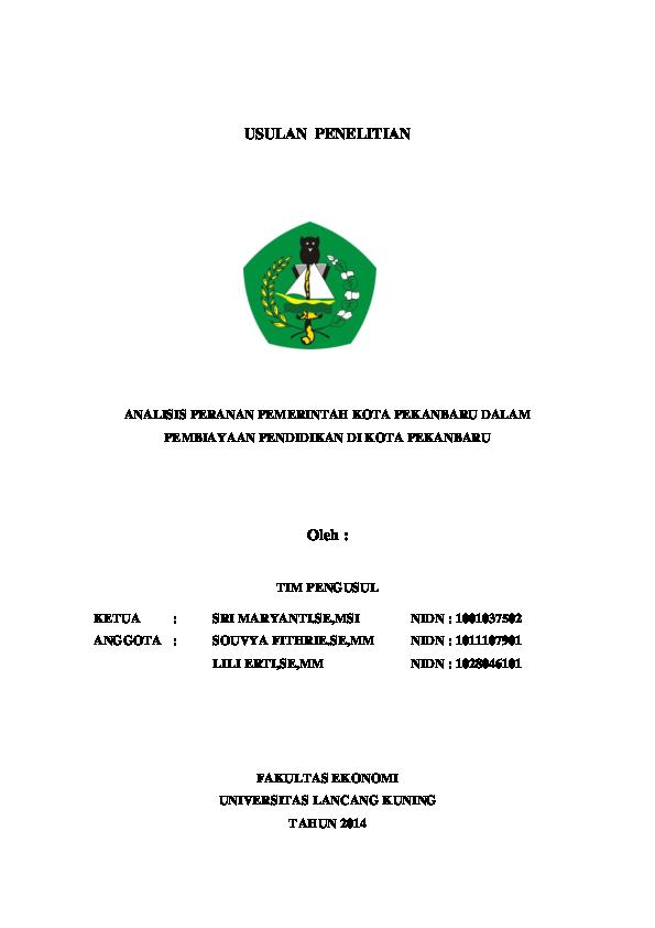 Doc Usulan Penelitian Sri Maryanti Academia Edu