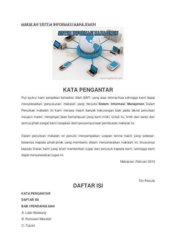 Makalah Sistem Informasi Manajemen Suriana Laupe Academia Edu