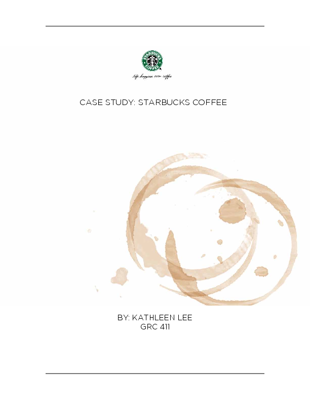 PDF) CASE STUDY: STARBUCKS Updated history and Current