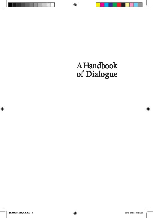Pdf Trust And Identity A Handbook Of Dialogue Krzysztof Czyzewski Academia Edu