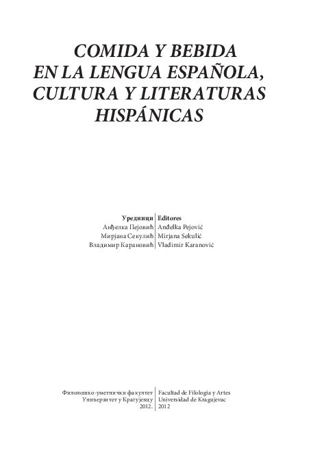 PDF) Comida y bebida en la lengua española fde9de27af1
