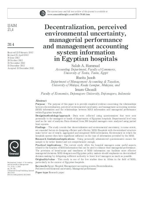 decentralization accounting