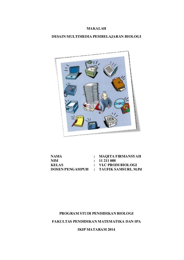 Doc Makalah Desain Multimedia Pembelajaran Biologi Maqita Firmansyah Academia Edu