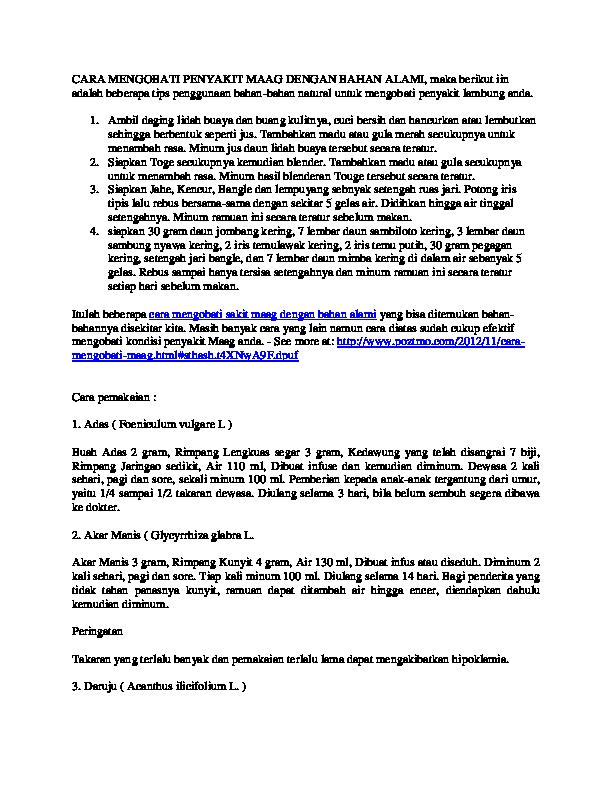 (DOC) CARA MENGOBATI PENYAKIT MAAG DENGAN BAHAN ALAMI ...