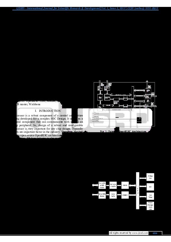 PDF) Design of AMBA AHB interface around OpenRISC 1200