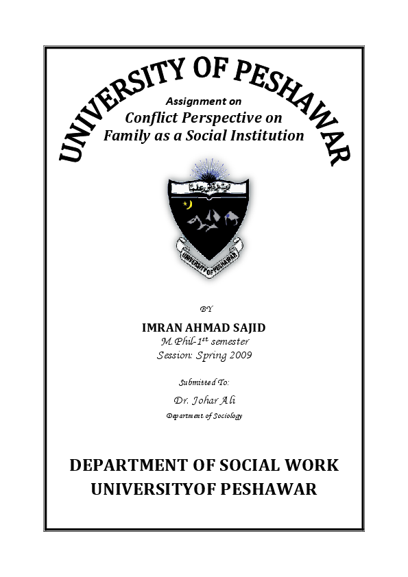Doc Conflict Perspective On Family Imran Ahmad Sajid