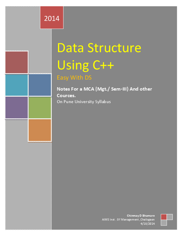 PDF) Type text] Data Structure Using C++ Easy With DS Notes