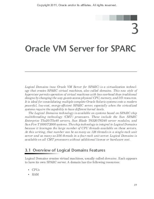 PDF) Oracle VM Server for SPARC | Romero Costa - Academia edu