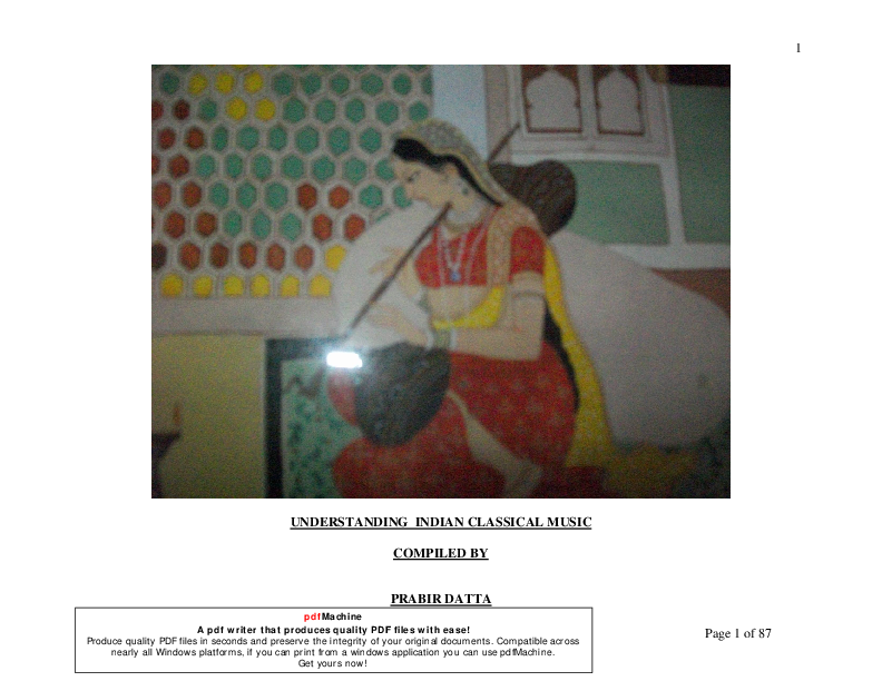 PDF) NORTH INDIAN CLASSICAL MUSIC | Prabir Datta - Academia edu