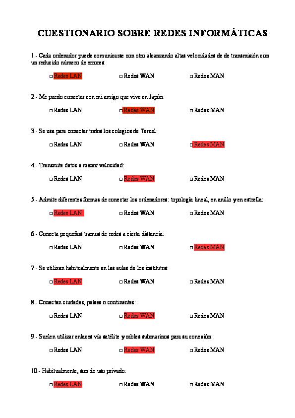 Doc Cuestionario Sobre Redes Informáticas Rebeca Yeliza