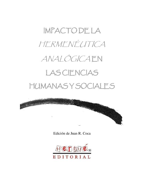 Pdf Impacto De La Hermenéutica Analógica En Las Ciencias