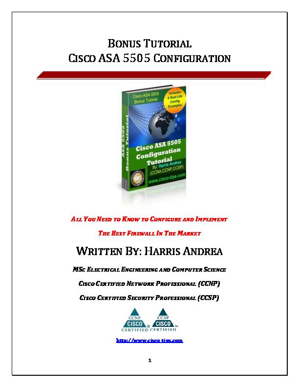 PDF) BONUS TUTORIAL CISCO ASA 5505 CONFIGURATION ALL YOU