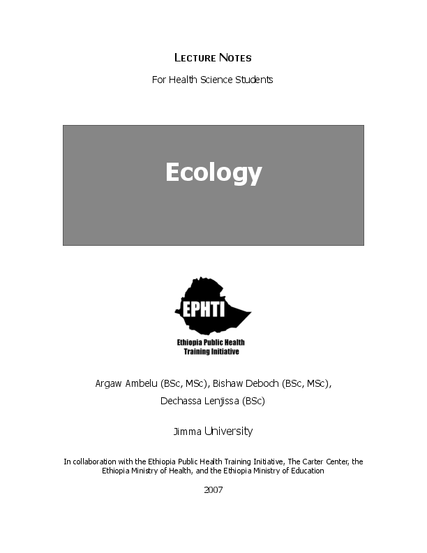 PDF) LECTURE NOTES For Health Science Students | Argaw