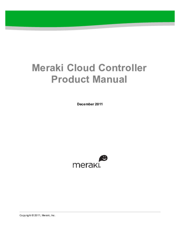 PDF) Meraki Cloud Controller Product Manual | oralis garcia