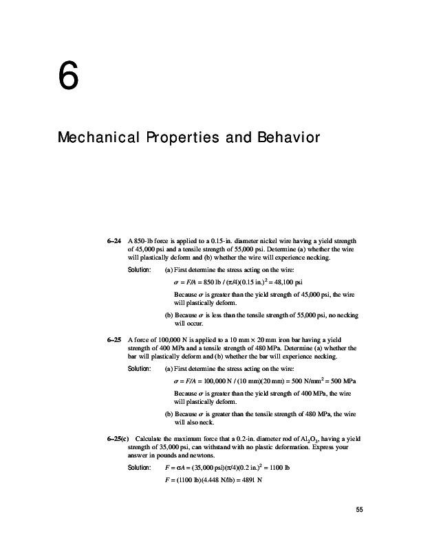 PDF) 55 6 Mechanical Properties and Behavior   Manuel Prada's