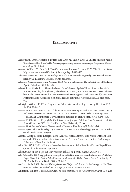 PDF) Philistines and Other Sea Peoples Bibliography   Marie