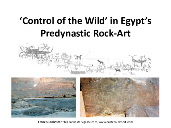 PPT) Control of the Wild in Egypt's Predynastic Rock-Art
