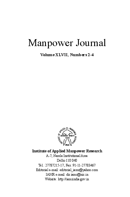 PDF) Manpower Journal Volume XLVII, Numbers 2-4 Institute of