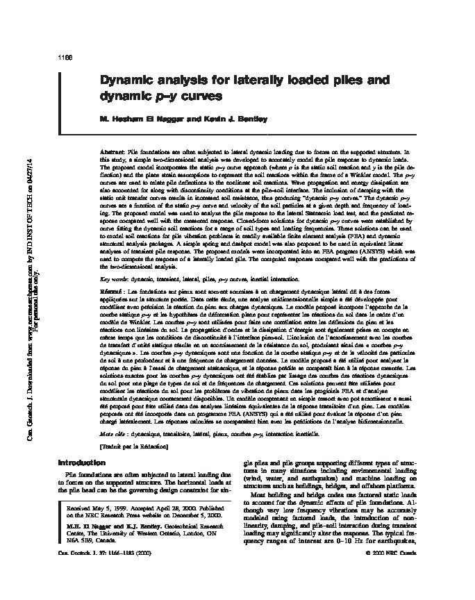 PDF) p -y curve | bharathi m - Academia edu
