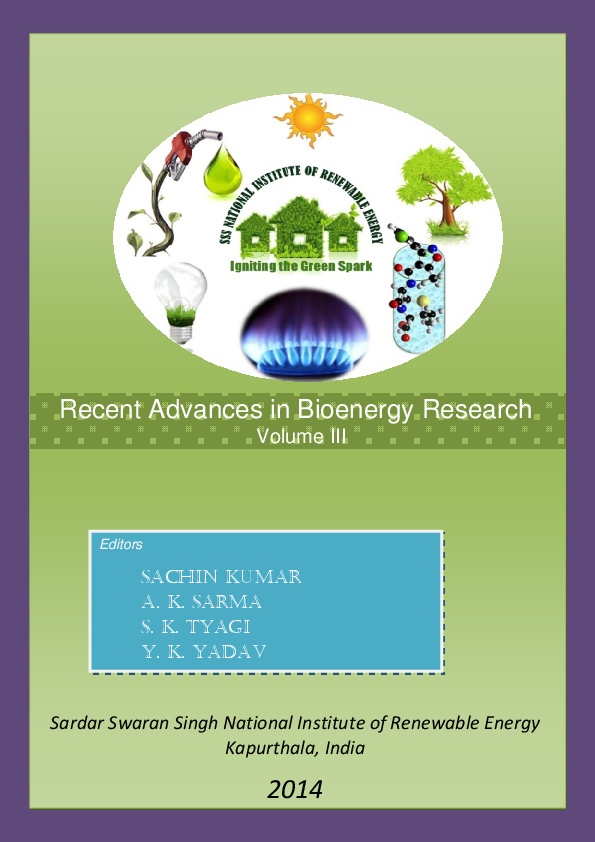 PDF) Recent Advances in Bioenergy Research Volume III edited